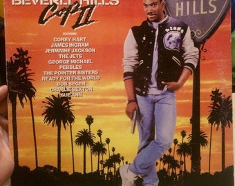 Vinyl record with the soundtrack of the movie Beverly Hills Cop 2 (1987). Eddie Murphy