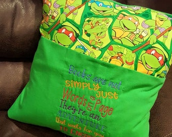 Pocket Pillow - Ninja Turtles Inspired Reading Pillow
