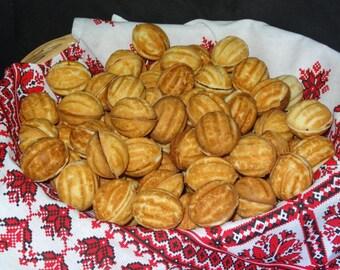 100 Oreshki- Sugar Butter Walnut shaped russian cookies