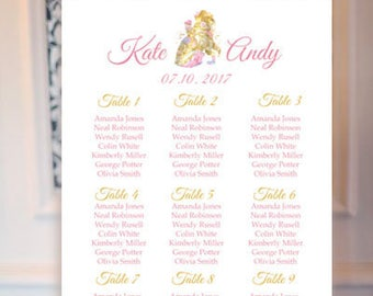 Beauty and the Beast wedding seating chart Disney wedding seating plan Wedding decor Beauty and the beast wedding plan Disney wedding sign