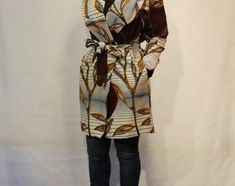 Jollie Midi African Print Jacket