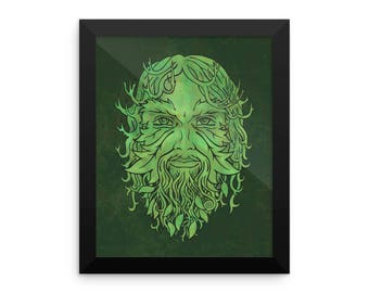 GreenMan Framed poster