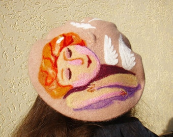 French beret Womens beret Wool beret Felted beret Felted hat pattern Felt beret Womens beret wool felted Wool women hat beret Beret for girl