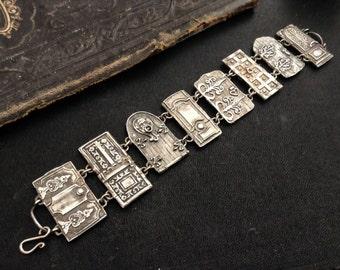 Sale! Petite Door Panel Bracelet sterling silver