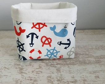 Storage for coats sailor pattern basket