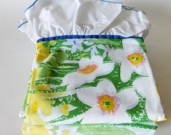 Vintage Floral Pillow Cases - Standard Size - Set of Two