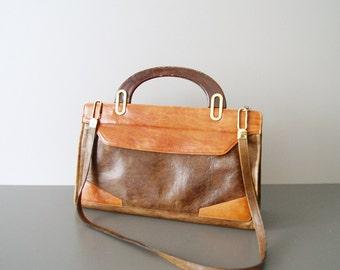 70s leather handbag, handbag, shoulder bag, handbag