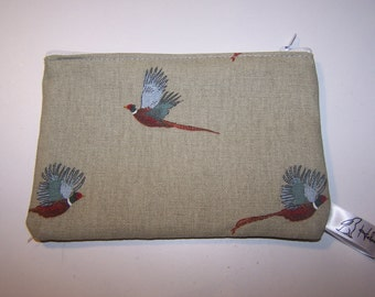 Sophie Allport pheasant print purse, pheasant, purse, phone case, Christmas, birthday, gift for her. Nature lovers gift
