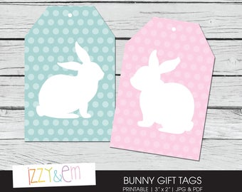 Bunny Gift Tag - Printable Easter Tag-  Printable Gift Tag - Easter Bunny Gift Tags - Tags for Favors - Easter Gift Tag - Rabbit Favour Tag