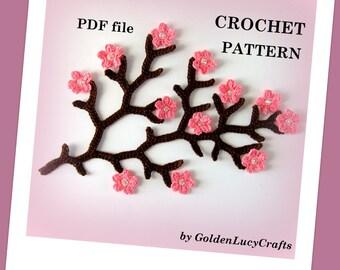 Cherry Branch Crochet PATTERN PDF