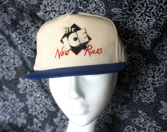 Miller Lite Ice Vintage 80s Snapcback Baseball Cap. 90s Deadstock Beer Hat. Miller Lite Ice New Rules  Party Hat. Hipster 90s Beer Hat