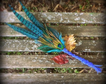 BACKORDER Until Jan 30:Smudge Fan-Pheasant-Pay with PayPal get a free spell in the box! Raven-Crow, Blue-Green-Fan Cruelty-Free