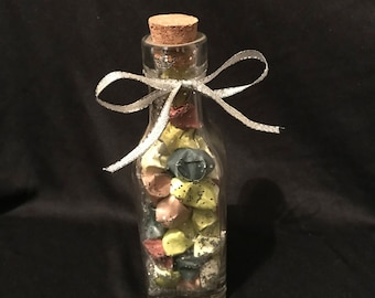 Glass Bottle With Origami Stars