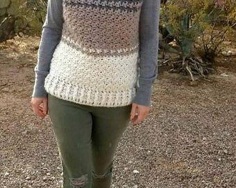 Sweater Vest Crochet PATTERN - Crochet Top Pattern - Crochet Sweater Pattern - Bulky Sweater Pattern - Chunky Sweater Pattern