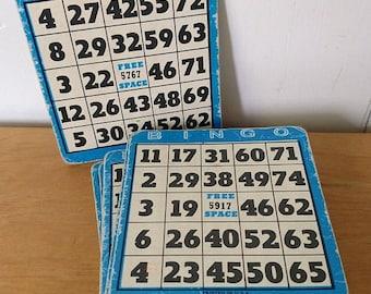 MEMORIAL DAY SALE 12 blue vintage Bingo cards