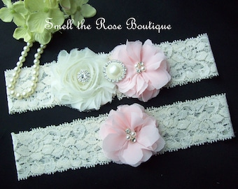 Wedding Garter Set, Chiffon Flower Garter Set,Wedding Accessories