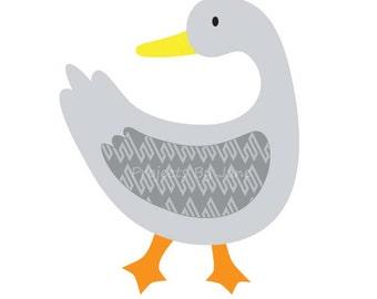 Duck Looking Back applique template | PDF applique pattern | applique template