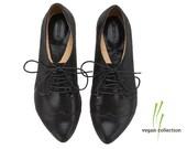 Vegan black shoes, snake print oxford shoes, vegan Polly Jean by Tamar Shalem