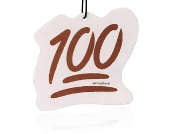 EmojiFresh 100 Emoji Car Air Freshener (3 Pack) - Cool Water Scent