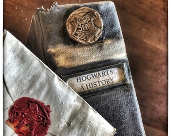 Redone distressed and aged faux leather Harry Potter Book Sets