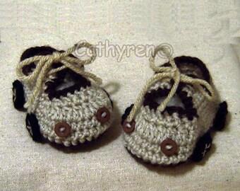 Baby Car Booties - INSTANT DOWNLOAD Crochet Pattern
