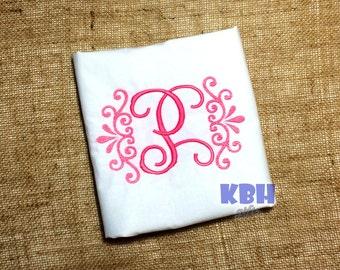 Embroidered Vintage Monogram Shirt / Onesie / Bodysuit