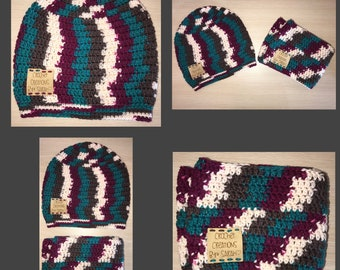 Crochet Slouchy with matching Scarf