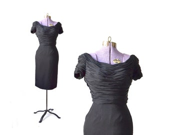 50s dress, cocktail dress, 1950s dress, vintage dress, Xs dress, little black dress, Audrey Hepburn dress, 1960s dress, 60s dress
