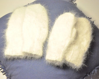 Two pairs of very soft mittens for adults and children