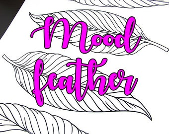Printable Mood Feather for A5 planner or bullet journal