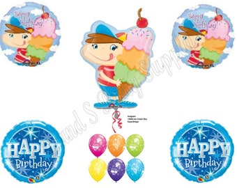 ICE CREAM CONE Summer Birthday Party Balloons Decoration Shower Social Scoop
