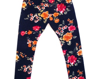Leggins floral background and Navy baby boy