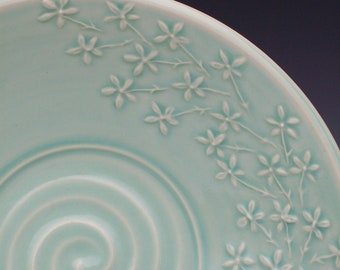 Floral Serving Bowls - Made to order in any of my 4 colors ( Yellow, Celadon, Lavender, & Tangerine)