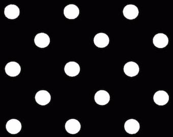 Premier Prints Polka Dot in Black White Twill Home Decor fabric, 1 yard