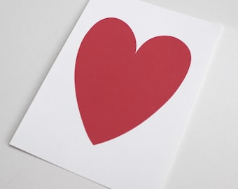 Bright Pink/Red Heart Print - 5x7