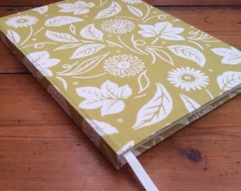 Large Handbound Notebook Covered in a Seasalt Fabric/handmade notebook/hardback journal/A5 journal/A5 notebook/teacher gift/plain notebook