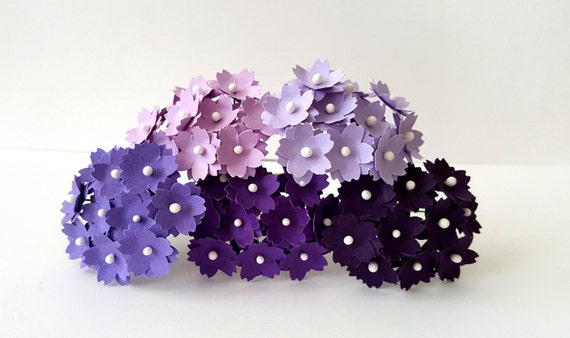 Small purple paper flowers lilac paper flowers violet like this item mightylinksfo