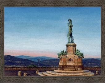 Michelangelo Square - Framed