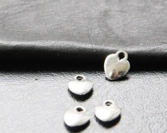 40pcs / Heart / Oxidized Silver / Charms / 10x8mm (YA887//A166)