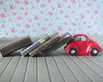 Four 1:12 Scale Dollhouse Miniature Vintage Style Books