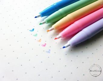Felt Tip Fineliner Pens Markers Pastel Watercolour Monami