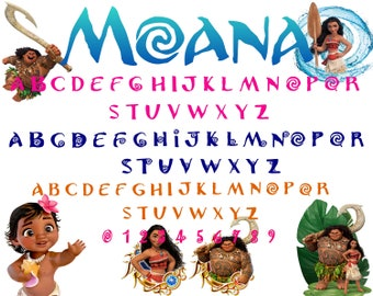 Moana Font svg,dxf/Moana alphabet svg,dxf/Moana letter svg,dxf for Silhouette,Cricut,Design and any more