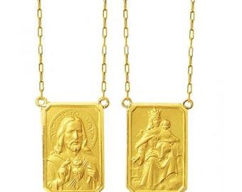 Scapular in Gold