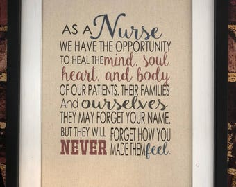 As a Nurse We Have Opportunity Maya Angelou Canvas Print Nursing Nurse Decor Rustic Decor Love Nurse Quote Hospice Nurses Week Prints