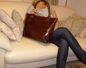 Leather Tote bag, Leather Crossbody Bag, Leather Handbag, Laptop Bag, Travel Bag, Leather Tote, Leather bag, Travel Bag, Nora XL, brown