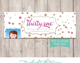 Thirty-one Glam Dots Facebook Cover Photo Image - ( Consultant, Thirty One, 31 )