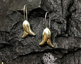 women's earrings, silver earrings, floral earrings