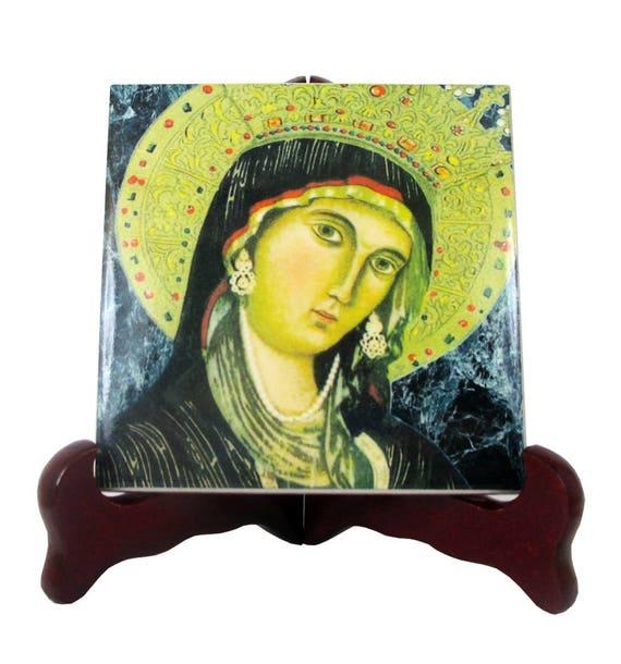 Our Lady of Montevergine Virgin Mary catholic tile art