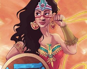 Aztec Wonder Woman print