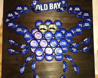 THE ORIGINAL Blue Bottle Cap Crab© with Old Bay Banner